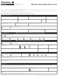 """Form 008755 """"Member Submitted Claim Form - Premera Blue Cross"""" - Washington"""