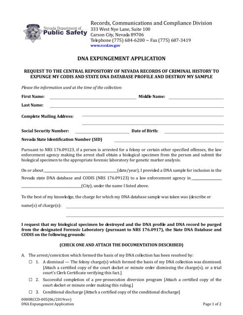 Form 0000RCCD-005 Printable Pdf