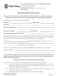 """Form 0000RCCD-005 """"Dna Expungement Application"""" - Nevada"""