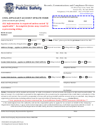 "Form 0501RCCD-012A ""Civil Applicant Account Update Form"" - Nevada"