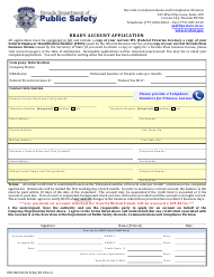 """Form 0501RCCD-015 """"Brady Account Application"""" - Nevada"""