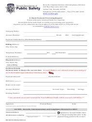 "Form 0501RCCD-003 ""E-Check Payment Processing Request"" - Nevada"