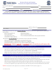 "Form NPP JSF0005 ""Presentence Investigation Questionnaire"" - Nevada"