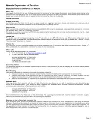 "Instructions for Form TXR-030.01 ""Nevada Commerce Tax Return"" - Nevada"