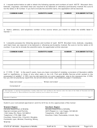 "Form SLAP22.73 ""License - Noncommercial Possession of Live Wildlife"" - Nevada, Page 2"