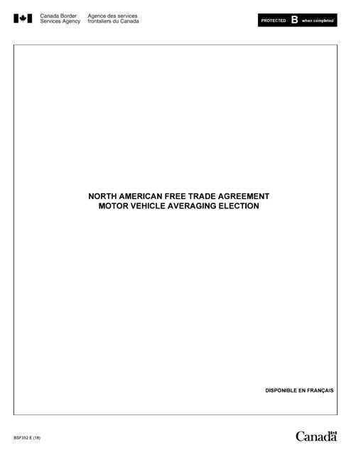 Form BSF352 Printable Pdf
