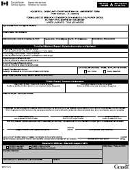 "Form BSF673 ""House Bill, Cargo and Conveyance Manual Correction Request Form - Post Arrival - All Modes"" - Canada (English/French)"