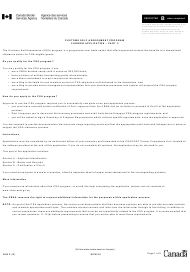"Form E656 Part II ""Customs Self Assessment Program Carrier Application"" - Canada"
