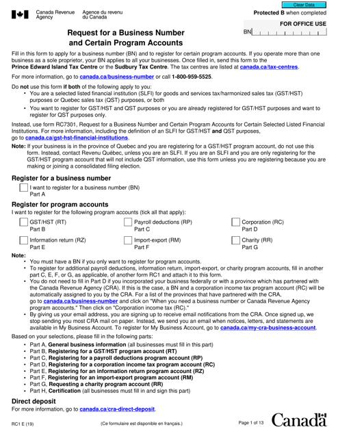 Form RC1 Printable Pdf