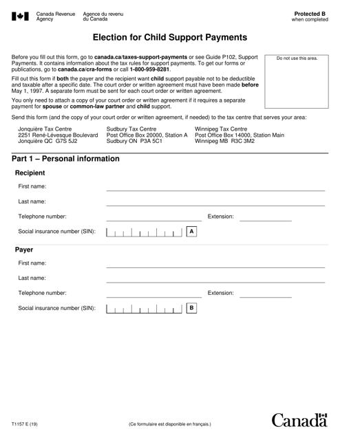 Form T1157  Printable Pdf