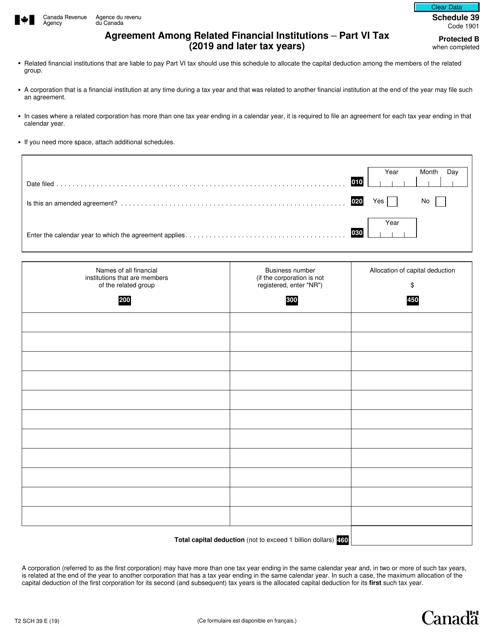 Form T2 Schedule 39 Printable Pdf