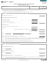 "Form T2 Schedule 427 ""British Columbia Corporation Tax Calculation (2019 and Later Tax Years)"" - Canada"