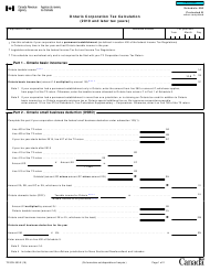 "Form T2 Schedule 500 ""Ontario Corporation Tax Calculation (2019 and Later Tax Years)"" - Canada"