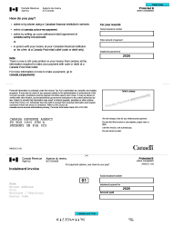 "Form INNS3 ""Instalment Remittance Voucher"" - Canada, 2020"