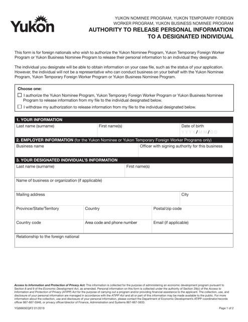 Form YG6665 Printable Pdf