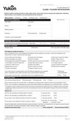"Form YG6675 ""Class 1 Placer Notification"" - Yukon, Canada"