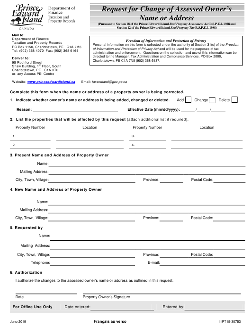 Form 11PT15-30753 Printable Pdf