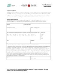 """Verification of Registration"" - Prince Edward Island, Canada"