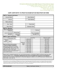 """Copr/Ocrp Entry-To-Practice Examination Registration Form"" - Prince Edward Island, Canada"
