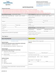 """Form LSAD100F2.24 """"Water Requisition"""" - Nova Scotia, Canada"""