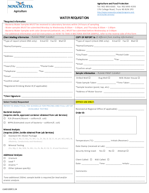 Form LSAD100F2.24 Printable Pdf