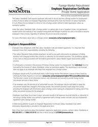 """Foreign Worker Recruitment Employer Registration Certificate Private Home Application"" - Nova Scotia, Canada"