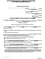 "Form P9 ""Affidavit of Delivery"" - British Columbia, Canada"