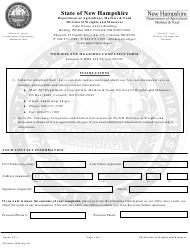 "Form CF-1 ""Weights and Measures Complaint Form"" - New Hampshire"