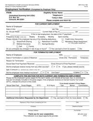 "BFA Form 756 ""Employment Verification"" - New Hampshire"