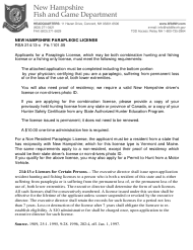 "Form BUS19001 ""Application for Paraplegic License"" - New Hampshire"