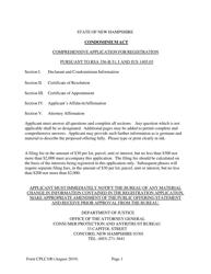 "Form CPLC100 ""Comprehensive Registration Application"" - New Hampshire"