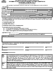 """Form PA-33 """"Statement of Qualification for Property Tax Credit, Exemption or Tax Deferral Under Rsa 72:33, V"""" - New Hampshire"""
