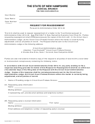 "Form NHJB-2883-P ""Request for Reassignment"" - New Hampshire"