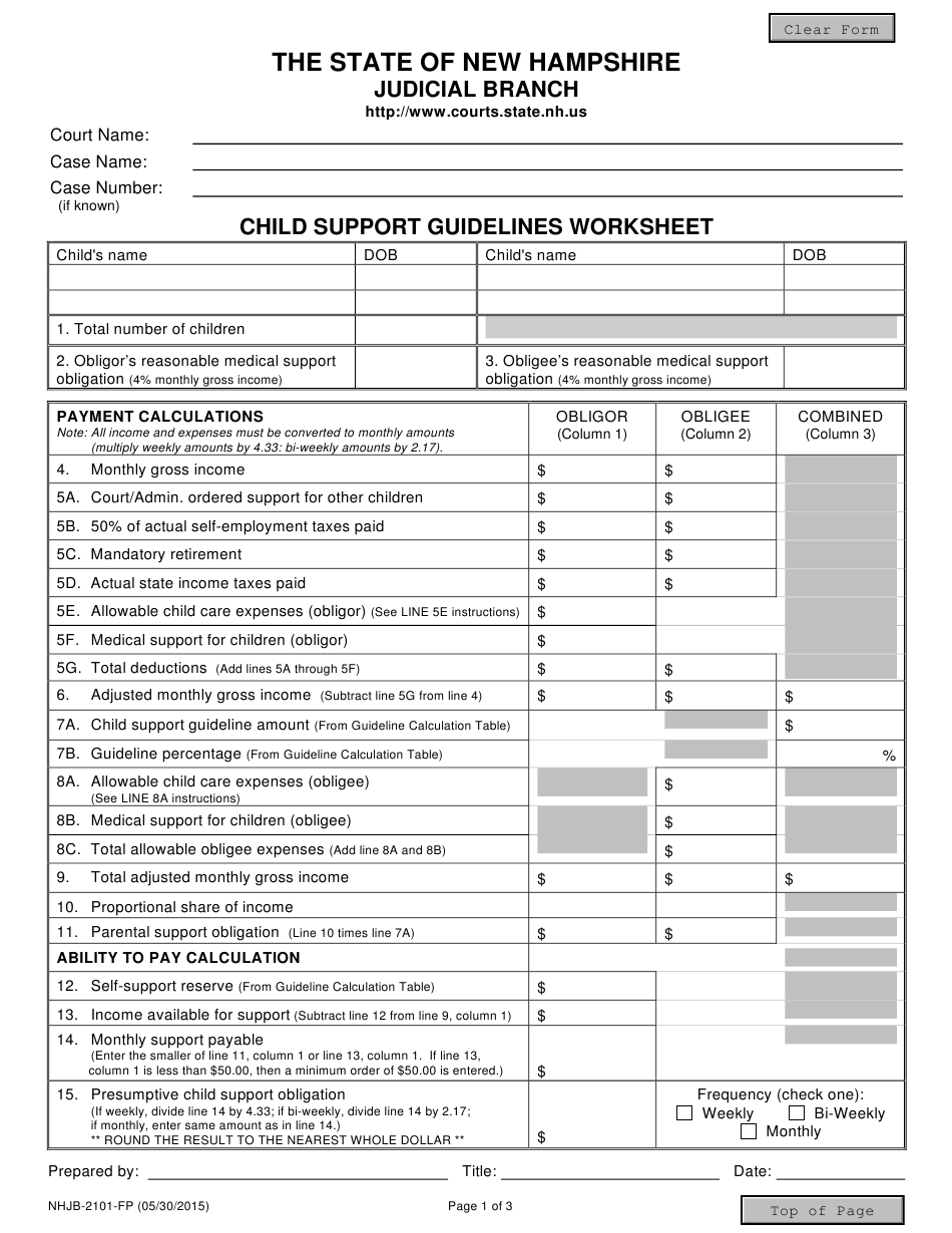 Form NHJB 2101 FP Download Fillable PDF or Fill Online ...