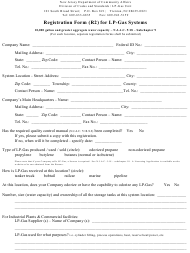 "Form R2 ""Registration Form for Lp-Gas Systems"" - New Jersey"