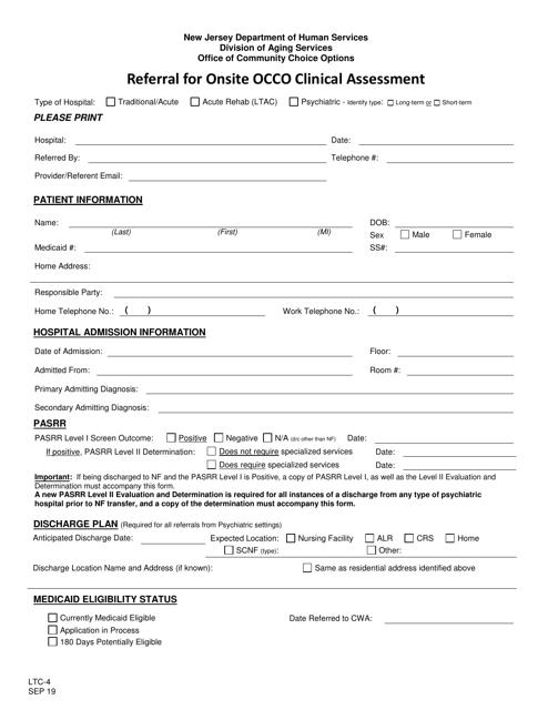 Form LTC-4  Printable Pdf
