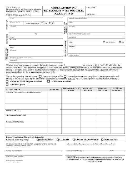 Form WC(DO)-370  Printable Pdf