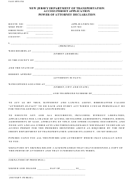 """Form MT156 """"Power of Attorney Declaration"""" - New Jersey"""