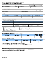 """Form S.P.153 """"Street Gang Contact/Offense Report"""" - New Jersey"""
