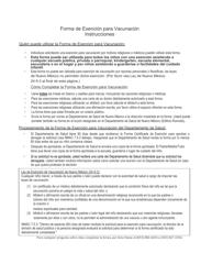 """""""Certificado De Exencionde Los Requisitos De Vacunacion Escolar/Guarderias"""" - New Mexico (Spanish)"""