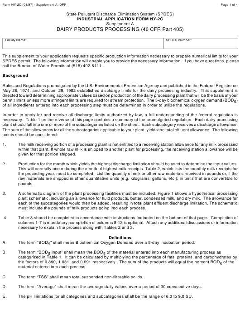 Form NY-2C Supplement A:DPP  Printable Pdf