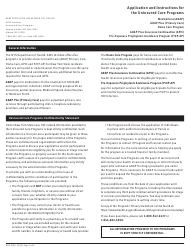 """Form DOH-2794 """"Application for the Uninsured Care Programs"""" - New York"""