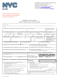 """Death Certificate Application"" - New York City (English/Polish)"