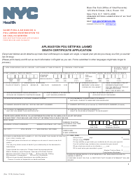 """""""Death Certificate Application"""" - New York City (English/Haitian Creole)"""