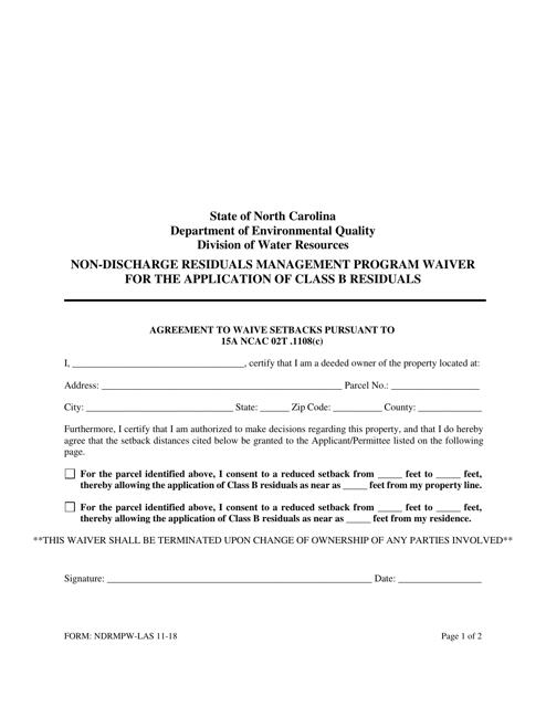 Form NDRMPW-LAS  Printable Pdf