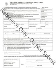 "Form SFN52018 ""Application for Facility-Based Grain Buyer License"" - North Dakota"