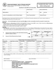 "Form SFN9397 ""Grain Movement and Storage Report"" - North Dakota"