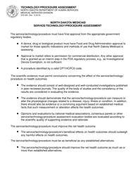 "Form SFN905 ""North Dakota Medicaid Service/Technology/Procedure Assessment"" - North Dakota"