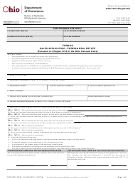 "Form 28 (COM3621; REPL-19-0042) ""Foreign Real Estate Sales Application"" - Ohio"