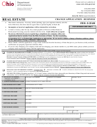 "Form COM3684 (REPL-17-0004) ""Change Application-Business"" - Ohio"